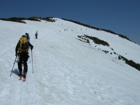 H27 至仏山残雪点検②-2/至仏山を目指す