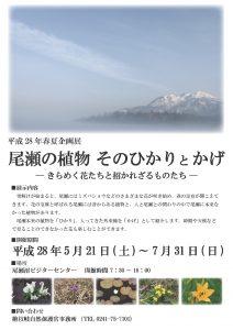 尾瀬vc企画展示チラシ